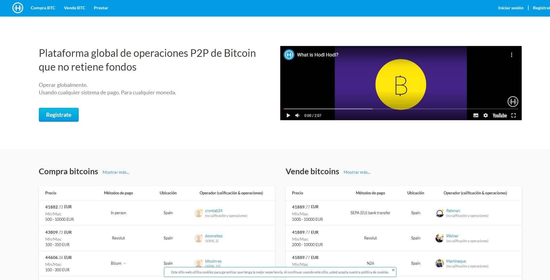 Comprar Bitcoin sin enviar identificacion